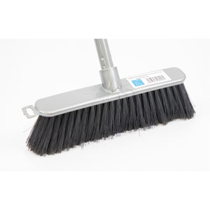 Silver Indoor Soft Sweeping Brush Head and Handle Kitchen Broom Floor Sweeper - The Dustpan and Brush Store