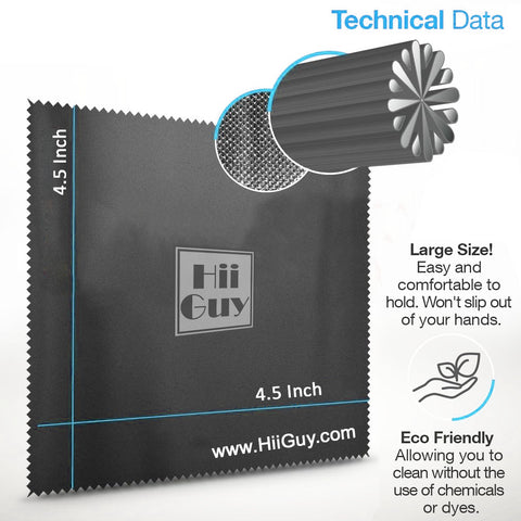 4.5 inch high quality microfiber cloth