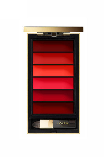 L'Oreal 6 Color Red Lip Palette, you can create ombre look, 6 rich reds to choose from comes with applicator brush