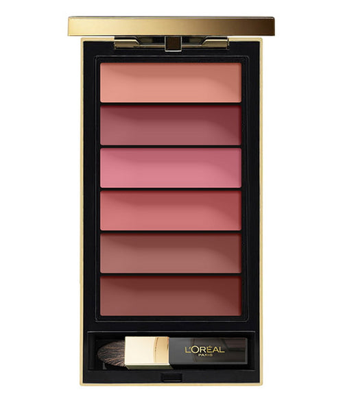 L'Oreal 6 Color Nude Lip Palette, you can create ombre look, 6 Nude Tones to choose from comes with applicator brush
