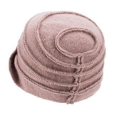 Retro Pure Wool Winter Dusty Pink Hat