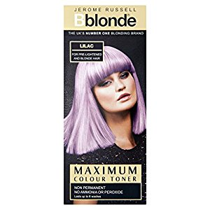 JEROME RUSSELL  LILAC COLOUR TONER NON PERMANENT  NO AMMONIA OR PEROXIDE 75ML FOR PRE LIGHTENED AND BLONDE HAIR