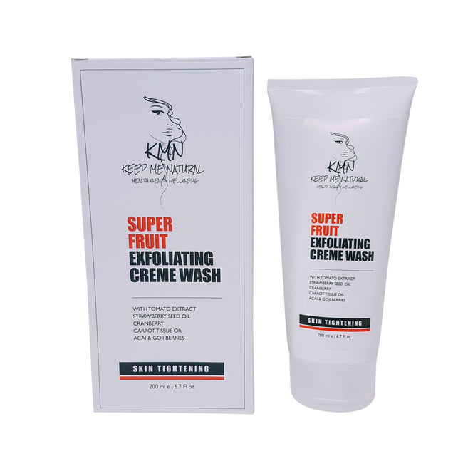 KMN 100% Natural Skin Tightening Super Fruit Exfoliating Creme Wash 200ml