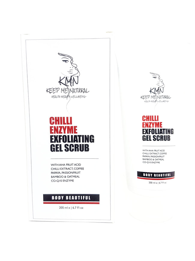 KMN 100% Natural Chilli Enzyme Exfoliating Gel Scrub 200ml