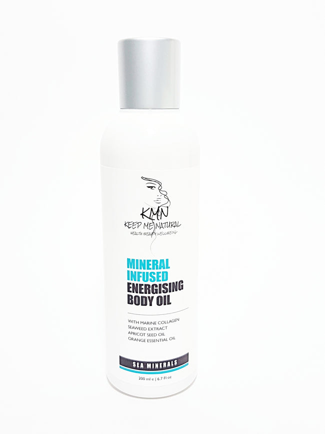 KMN 100% Natural Mineral Infused Energising Body Oil 200ml