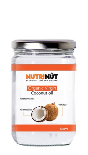 Organic Virgin Coconut Oil 100% Raw Nutrinut 500ml