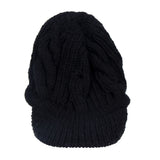 Peaked Beanie Women's Black Winter Hat