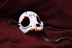 Handmade Resin Skull Mask - Fox Skull,  Kitsune