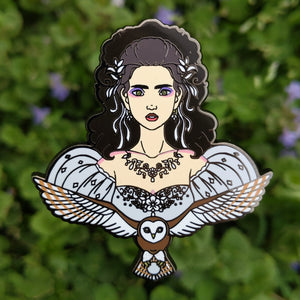 """It's only Forever"" Masquerade Sarah Hard Enamel Labyrinth Pin"