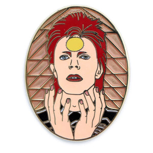 David Bowie, God Given Ass hard enamel pin
