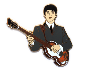 Beatles Paul McCartney hard enamel pin