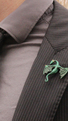 Handmade Resin Dragon lapel pin