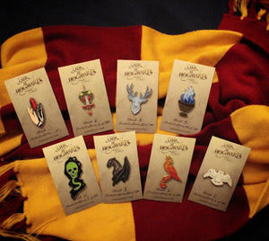 """A Year at Hogwarts"" Full Set of Enamel Pins"