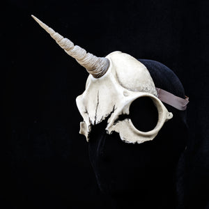 Ready to Ship - Handmade Resin Skull Mask - Unicorn