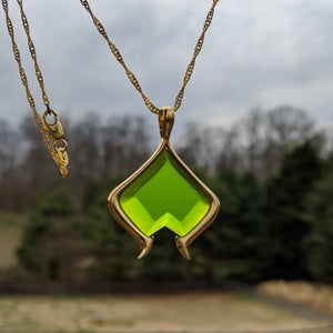 The Arcana inspired, Apprentice emerald necklace