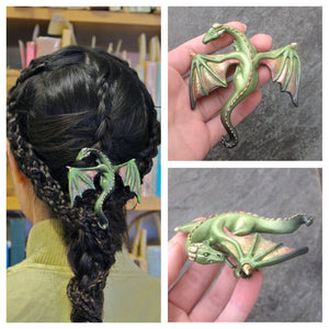 Original Handmade Resin Dragon Hair Barrette