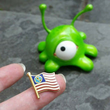 Futurama Inspired Earthican Flag Pin