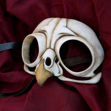 Ready to ship - Handmade Resin Skull Mask - Owl Skull Mask
