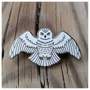 """A Year at Hogwarts"" - Harry Potter book 7 inspired enamel pin, the Snowy Owl"