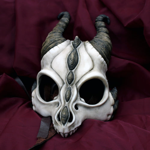 Handmade Resin Skull Mask - Dragon Skull Mask