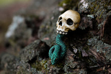 Dark Mark inspired, Skull and snake resin lapel pin