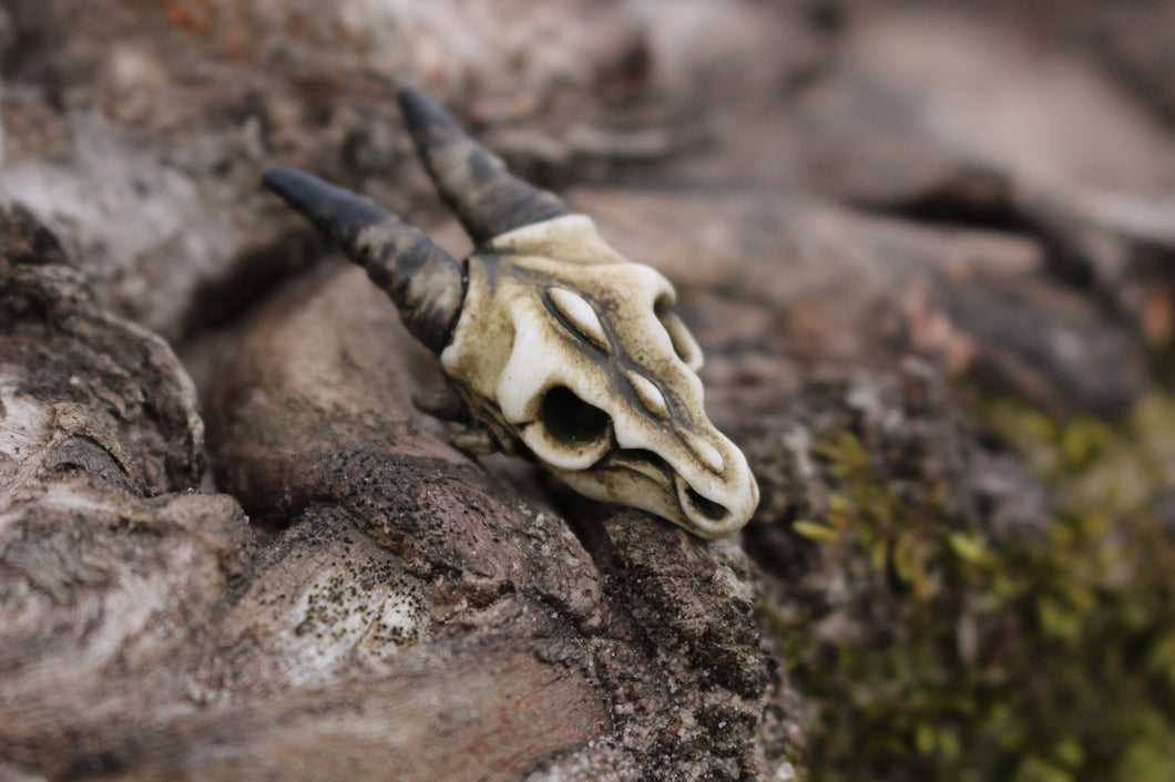 Handmade Resin Dragon Skull lapel pin