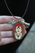 David Bowie as Ziggy Stardust enamel Charm necklace