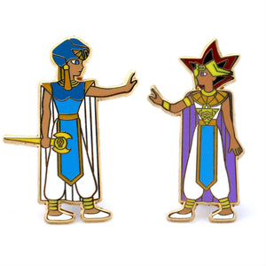 Yu-Gi-Oh! Seto and Atem enamel pin set