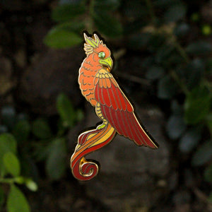 """A Year at Hogwarts"" - Harry Potter book 6 inspired enamel pin, the Phoenix"