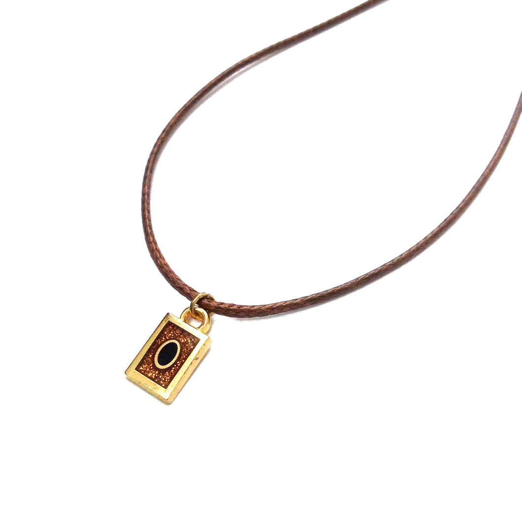 Yu-Gi-Oh inspired hard enamel Kaiba necklace