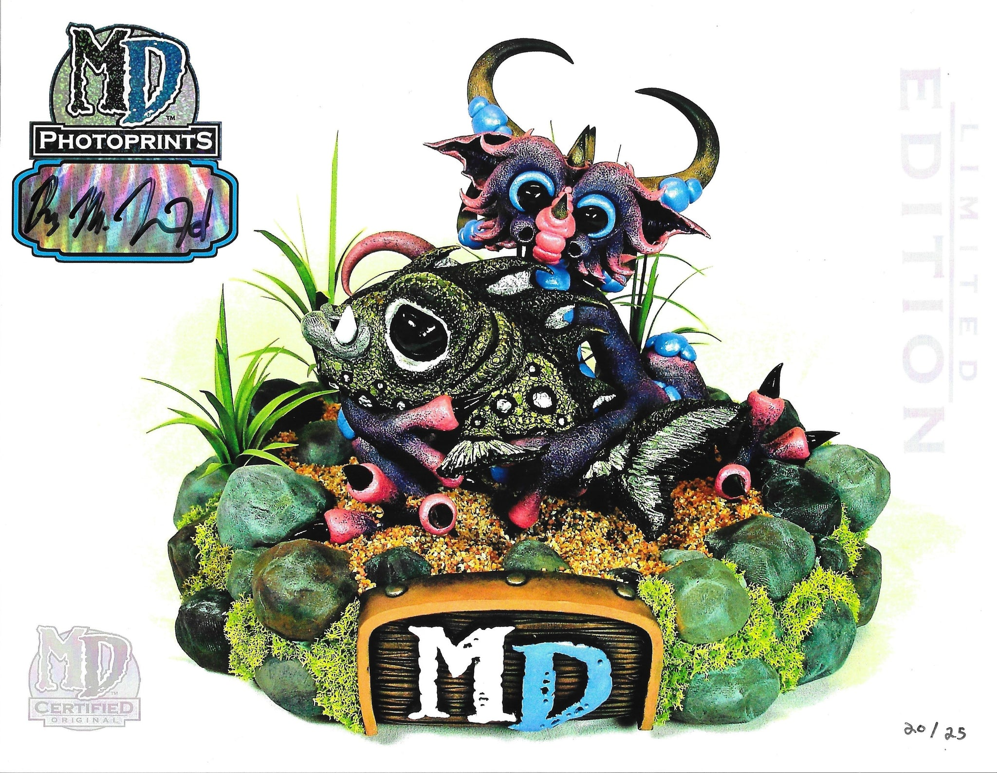 "MD LIMITED EDITION AUTOGRAPHED 8.5"" x 11"" PHOTOPRINT- CUDDLEFISH DRAGON #/25 - MacLeod Dragons"
