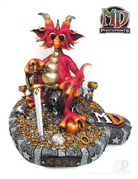 "MD 8.5"" x 11"" PHOTOPRINT- RED TREASURE DRAGON - MacLeod Dragons"