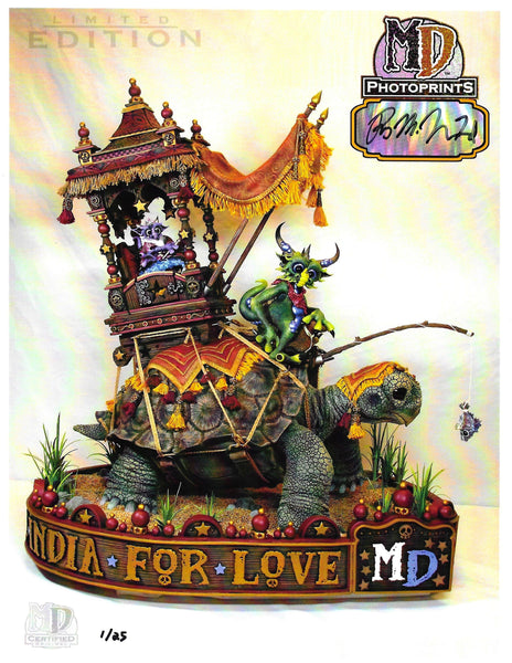 "MD LIMITED EDITION AUTOGRAPHED 8.5"" x 11"" PHOTOPRINT- INDIA DRAGONS #/25 - MacLeod Dragons"