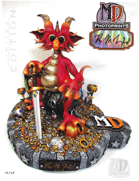 "MD LIMITED EDITION AUTOGRAPHED 8.5"" x 11"" PHOTOPRINT- RED TREASURE DRAGON #/25 - MacLeod Dragons"