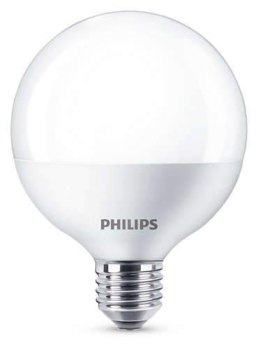 Philips LED Globe, 9,5W(60W) E27, Varmvit, inte dimbar - LED-pære E27 sokkel. Fra Philips
