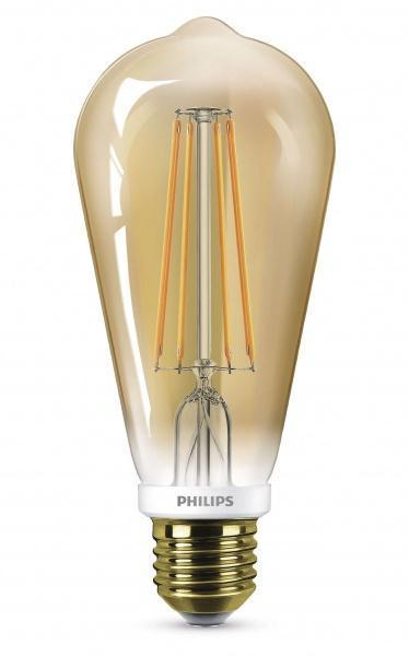 Philips 7W dimbar LED, flamme 60mm