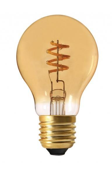 Elect Spiral LED Fil Normal 4W Gold
