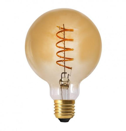 Elect Spiral LED Fil Globe 95mm, 4W gold