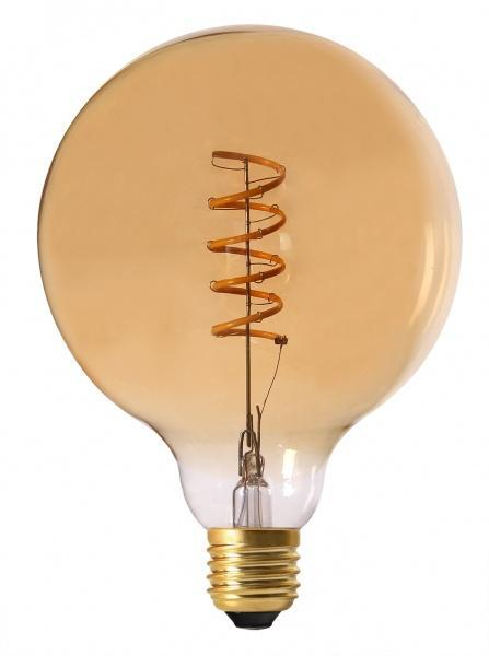 Elect Spiral LED Fil Globe 125mm 4W gold