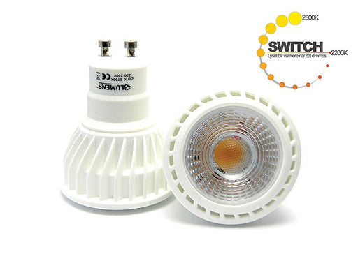 Infinity 6,5w 2000-2800k Switch GU10 LED
