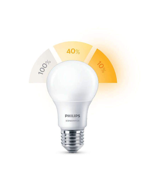 Philips SceneSwitch 8W LED pære, E27