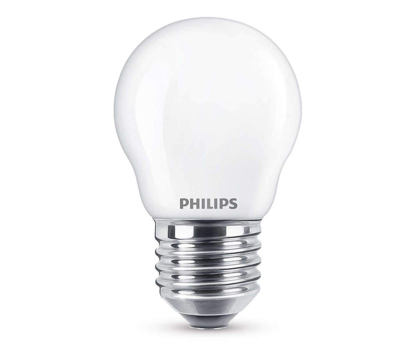 Philips LED Illum/krone  4,3 W (40 W) - LED-pære E27 sokkel. Fra Philips