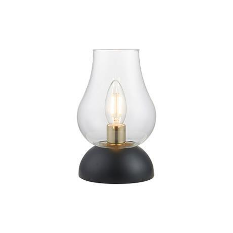 Cognac bordslampa, glas/mässing - Bordlampor. Fra Halo Designs