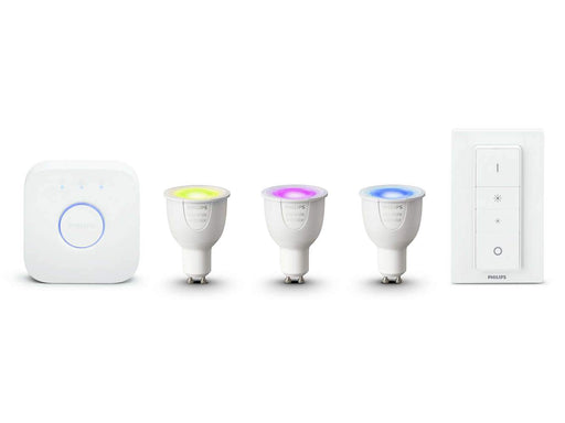 Philips Hue White and Color Ambiance startsett 3 x GU10 + bro