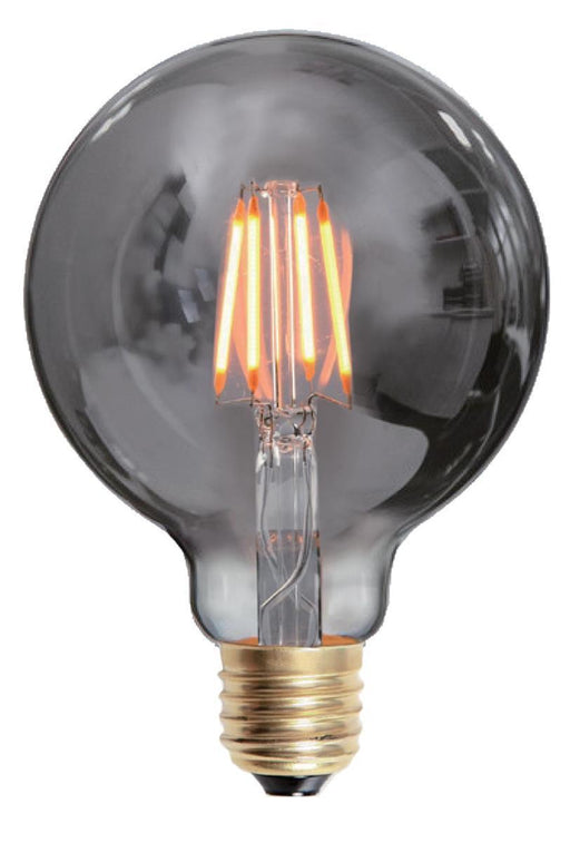 Edison globe smoke 4W LED dimbar 125mm