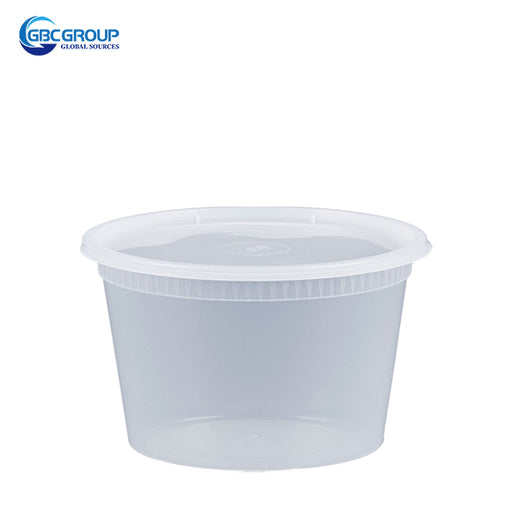 S-12 12 oz. Microwavable Clear Plastic Deli Container and Lid Combo Pack - 240/Case
