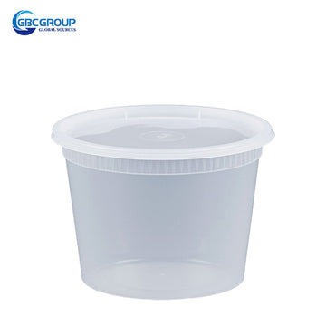 S-16 16 oz. Microwavable Clear Plastic Deli Container and Lid Combo Pack - 240/Case