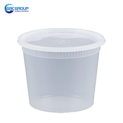 S-24 24 oz. Microwavable Clear Plastic Deli Container and Lid Combo Pack - 240/Case