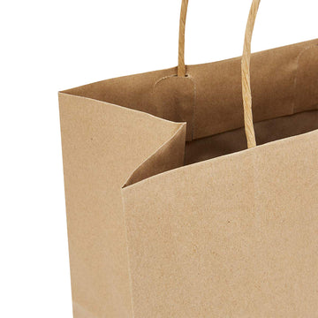 U Cut - Kraft Paper Bag (Twisted Round Handle 120gsm) 16