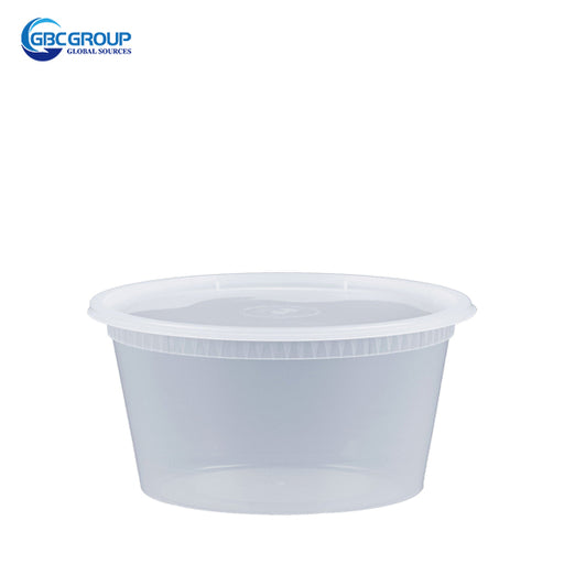 S-8 8 oz. Microwavable Clear Plastic Deli Container and Lid Combo Pack - 240/Case